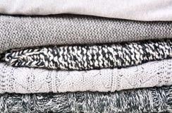 Stack woolen kläder Royaltyfria Bilder