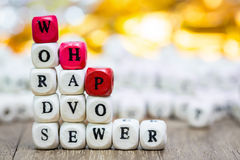 Stack of Words have power dice puzzle Stock Photography