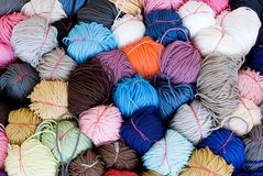 Stack of yarn Royalty Free Stock Photos