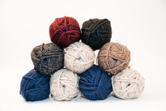 Stack of Yarn Skeins Royalty Free Stock Images
