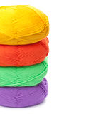 Stack of yarn skeins Royalty Free Stock Photo