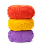 Stack of yarn skeins Stock Images