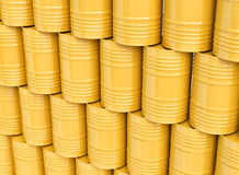 Stack of yellow oil barrels vector illustration