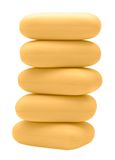 Stack of yellow soap bricks Royalty Free Stock Photos