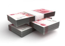 Stack of Yuan Stock Photography