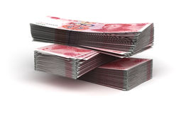 Stack of Yuan Royalty Free Stock Photo