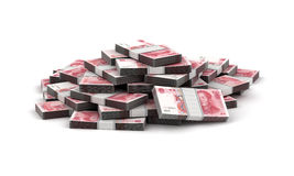 Stack of Yuan Royalty Free Stock Images