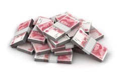 Stack of Yuan Royalty Free Stock Photos