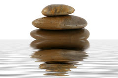 Stack of zen rocks with water reflection Royalty Free Stock Photography