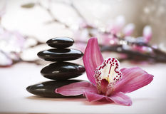 Stack of Zen Stones stock images