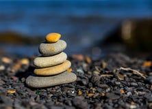 Stack of zen stones. Stock Image