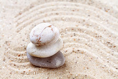 Stack of zen stones Royalty Free Stock Photo