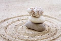 Stack of zen stones Royalty Free Stock Image
