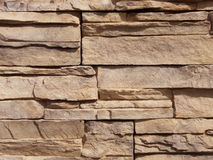 Stackable. Mortarless stackable red stone used in patios and gardens Stock Photos