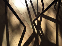 Stackable furniture leg shadows Stock Image