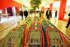 Stackable shopping carts Royalty Free Stock Photos