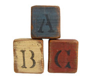 Stacked ABC Blocks Royalty Free Stock Photography