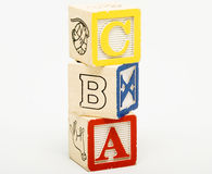 Stacked Alphabet Learning Cubes Royalty Free Stock Photography