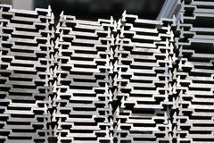 Stacked aluminum. A background of stacked aluminum stock photo