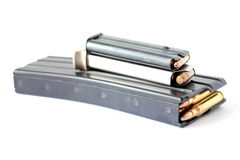 Stacked Ammo Clip. S used for home defense and hunting Royalty Free Stock Photography
