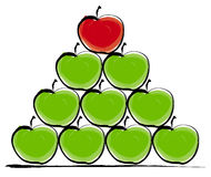 Stacked apples. Illustration Stock Image