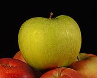 Apples in Stack. A close-up still life image of stacked apples Royalty Free Stock Photos