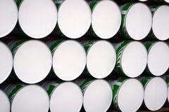 Stacked Barrels. A background of stacked barrels stock photo