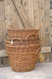 Stacked baskets Stock Images
