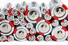 Stacked Batteries Stock Photos