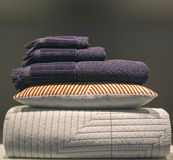 Stacked bed clothes Royalty Free Stock Photo