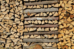 Stacked beechwood logs Royalty Free Stock Photo