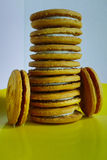 Stacked biscuits Royalty Free Stock Images
