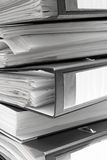 Stacked Black File Folders Stock Images