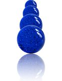 Stacked Blue Marbles Stock Photo