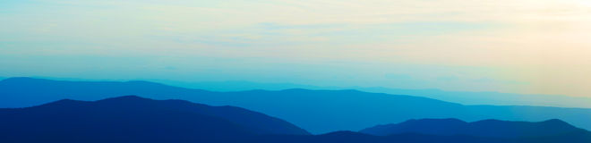 Stacked Blue MRidge Mountains Stock Photo