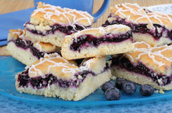 Stacked Blueberry Bars Royalty Free Stock Image