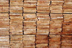 Stacked boards Stock Photography