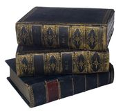 Stacked Books. Antique Books stacked as on a table Stock Photo