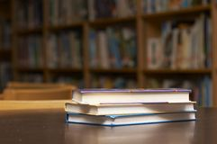 Stacked books stock images