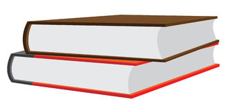 Stacked Books. Vector Illustration of two hardcover books stacked on top of each other Royalty Free Stock Images