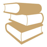 Stacked books. Brown books symbol on white background Royalty Free Stock Photos