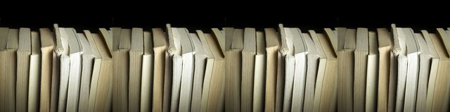 Stacked Books Background Stock Photos
