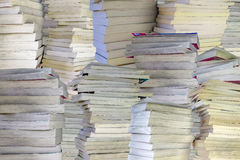 Tall stacks of old books Royalty Free Stock Photography