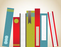 Stacked Books Grouping. Variety of books stacked vertically Royalty Free Stock Image
