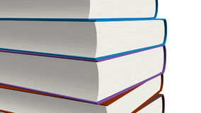 Stacked books stock footage