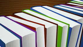 Stacked books stock video footage
