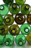 Stacked Bottles. Intricately stacked empty wine bottles Stock Image