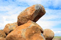 Stacked boulders stock image