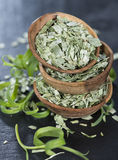 Stacked bowls with Tarragon Stock Image