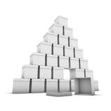 Stacked boxes Royalty Free Stock Images